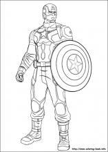 Captain America coloring #1, Download drawings