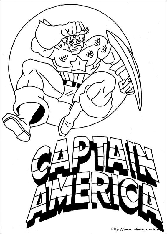 Captain America coloring #9, Download drawings
