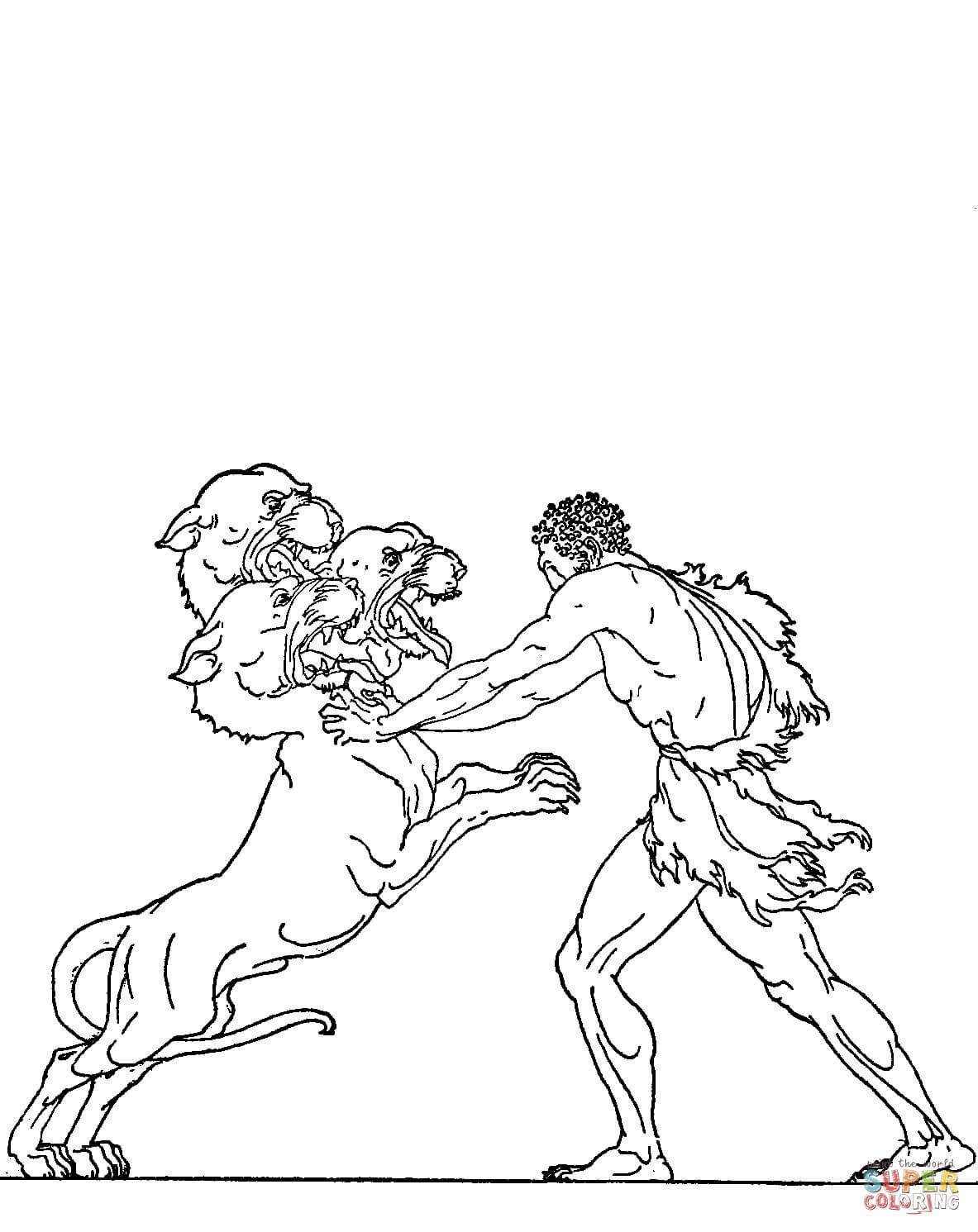 Cerberus coloring #8, Download drawings