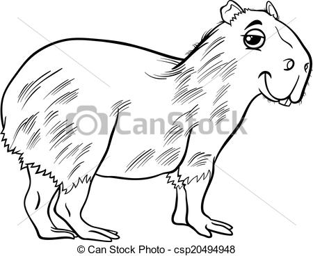 Capybara clipart #9, Download drawings
