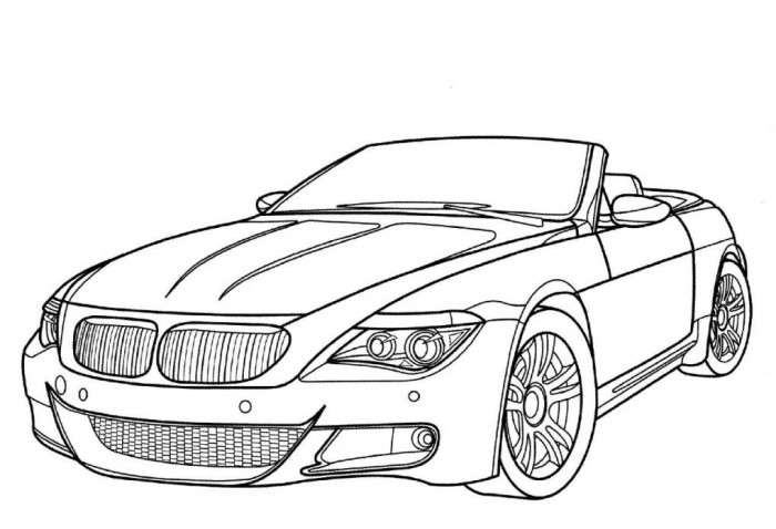 Car coloring #11, Download drawings