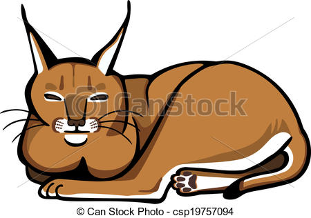 Caracal clipart #2, Download drawings