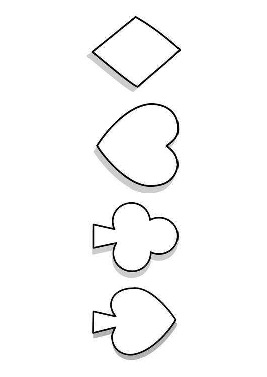 Card Game coloring #11, Download drawings