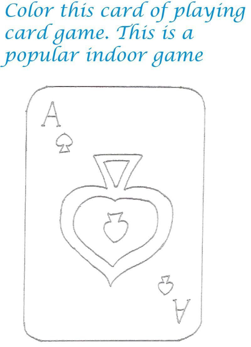 Card Game coloring #3, Download drawings
