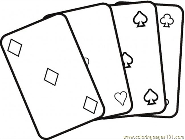 Card Game coloring #20, Download drawings