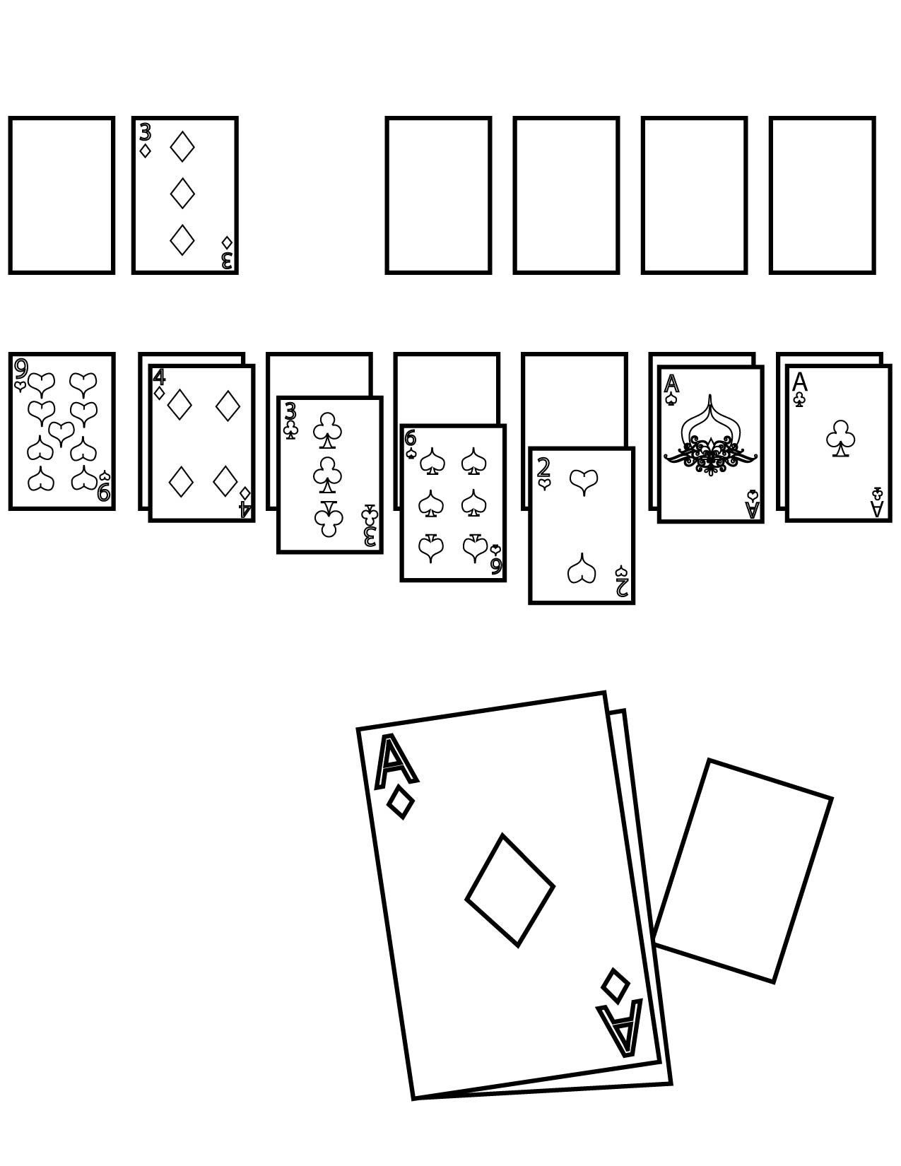 Card Game coloring #12, Download drawings