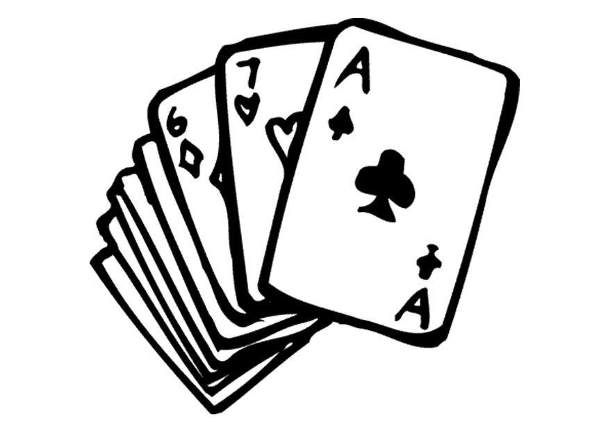 Card Game coloring #13, Download drawings