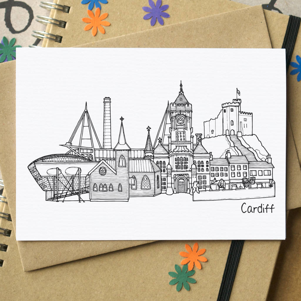 Cardiff coloring #4, Download drawings