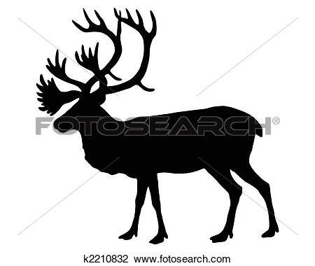 Caribou clipart #4, Download drawings