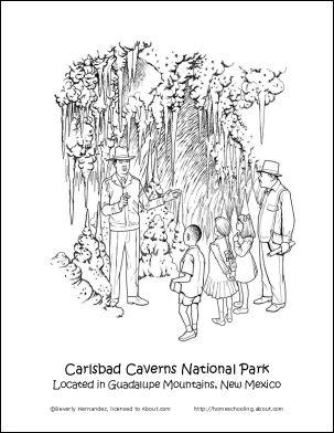 Carlsbad Caverns coloring #15, Download drawings