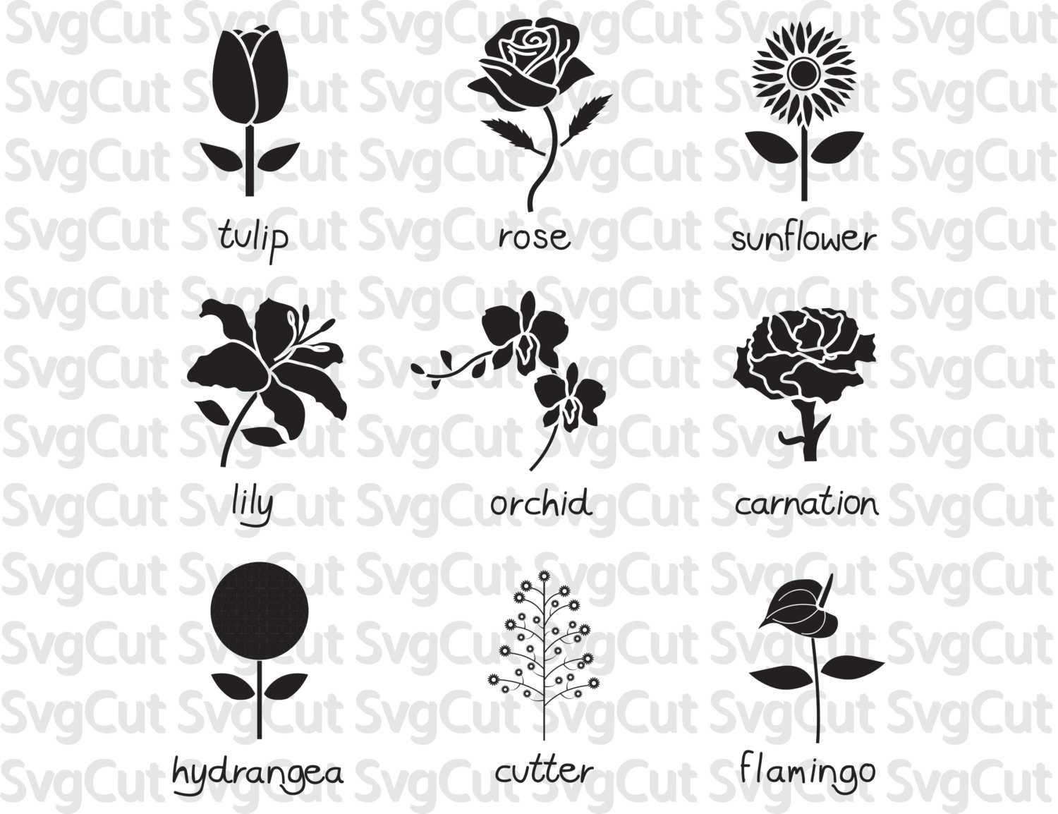 Carnation svg #11, Download drawings