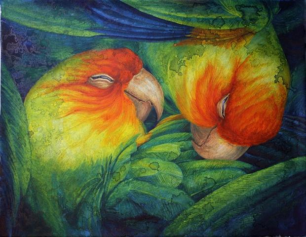 Carolina Parakeet coloring #13, Download drawings