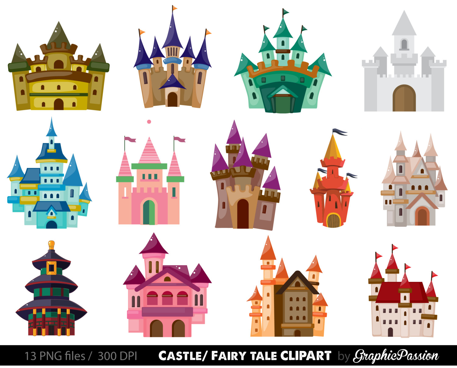 Castle clipart #1, Download drawings