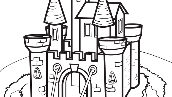 Castle coloring #1, Download drawings