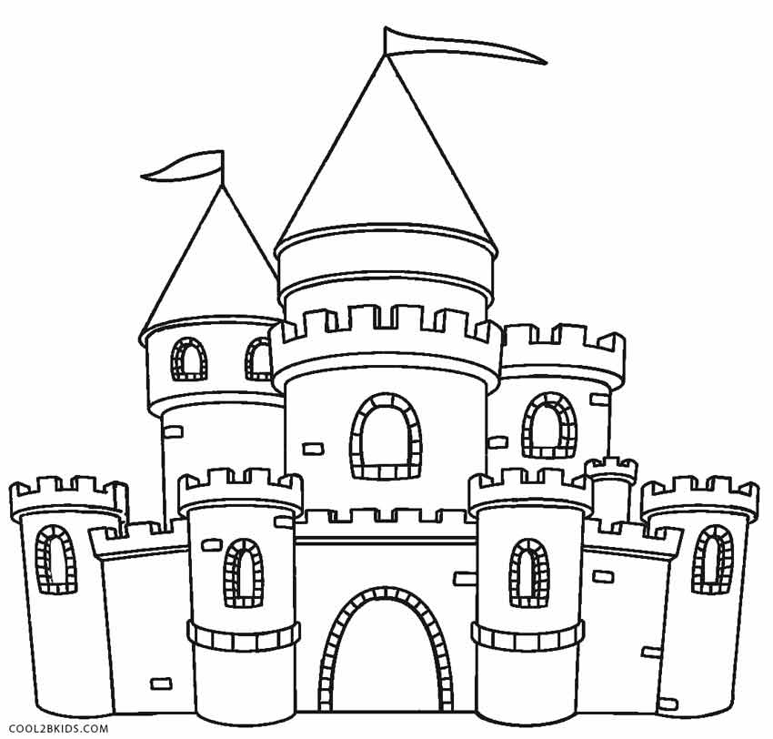 Castle coloring #14, Download drawings