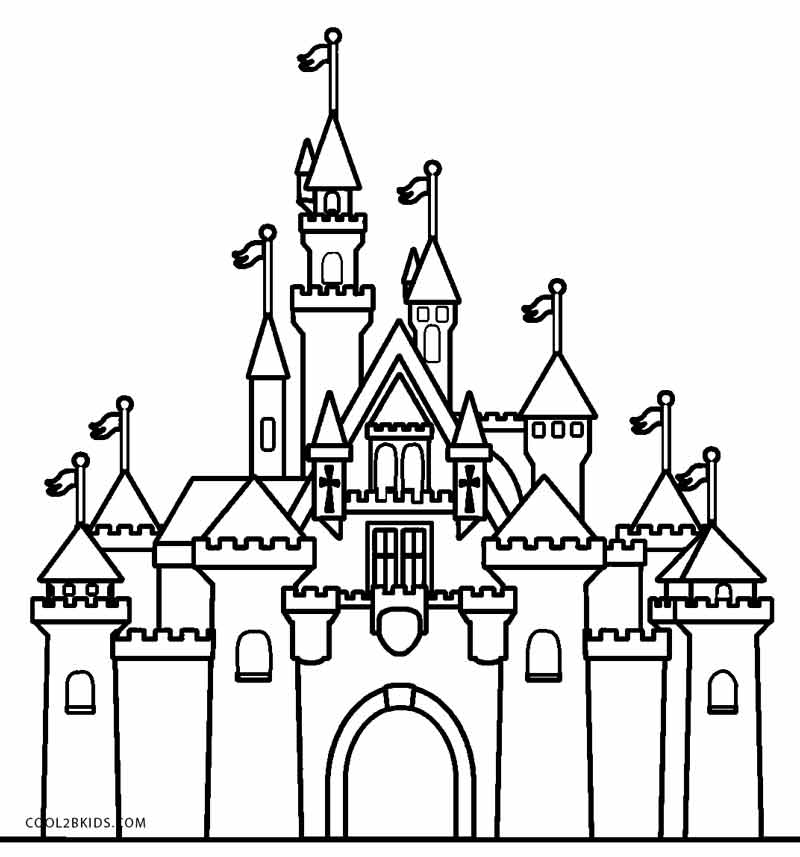 Castle coloring #13, Download drawings