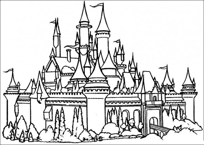 Castle coloring #8, Download drawings