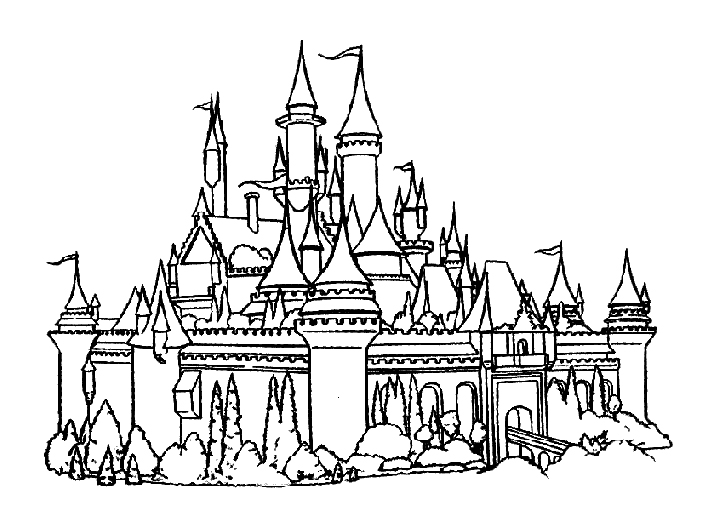 Castle coloring #11, Download drawings