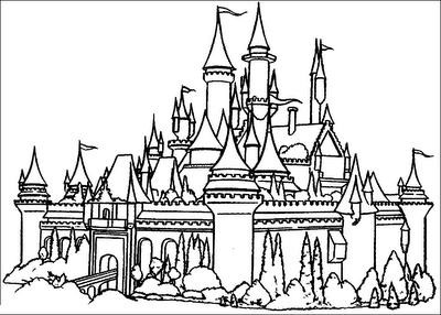 Castle coloring #10, Download drawings