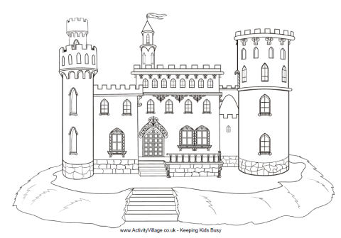 Castle coloring #19, Download drawings