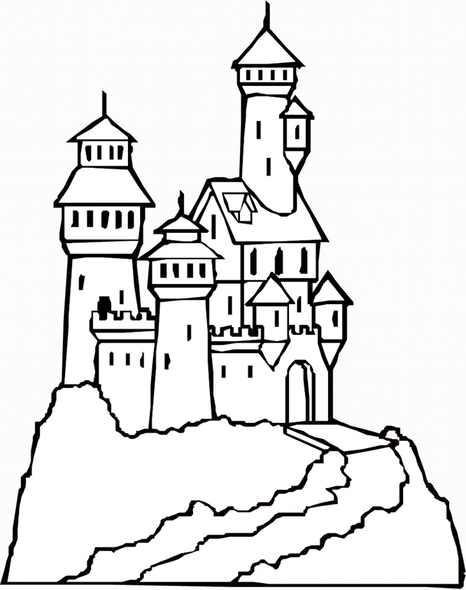 Castle coloring #17, Download drawings