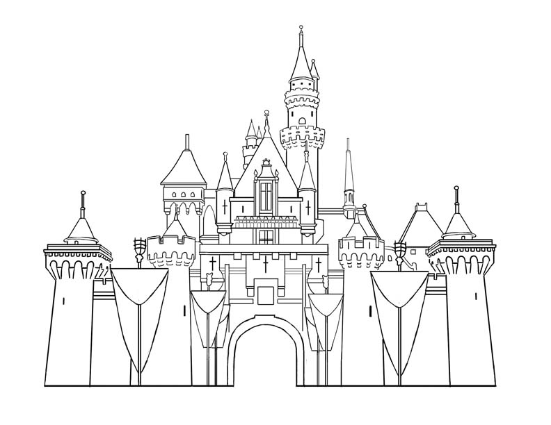 Castle coloring #5, Download drawings