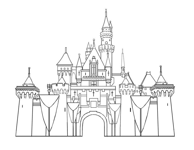 Cinderella's Castle coloring #19, Download drawings