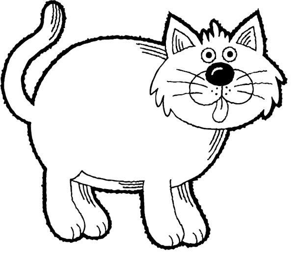 Cat coloring #12, Download drawings