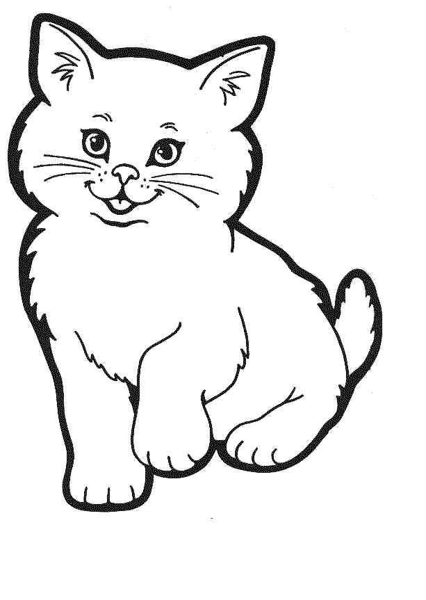 Cat coloring #3, Download drawings