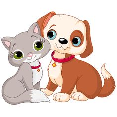 Cat & Dog clipart #7, Download drawings