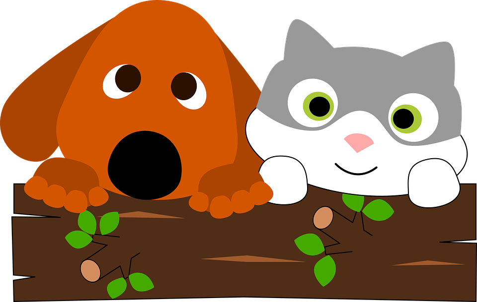 Cat & Dog clipart #2, Download drawings