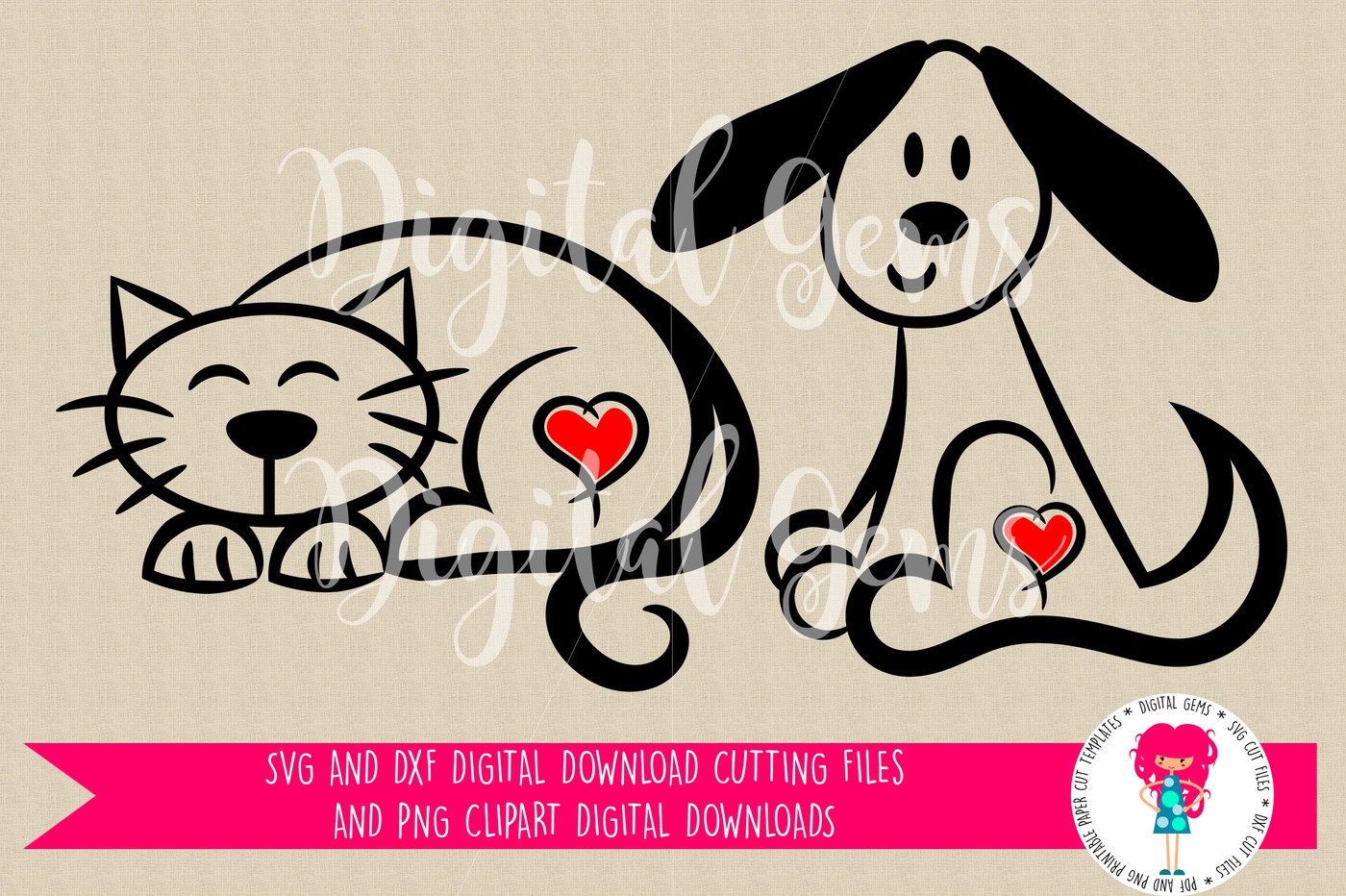 Cat & Dog svg #12, Download drawings