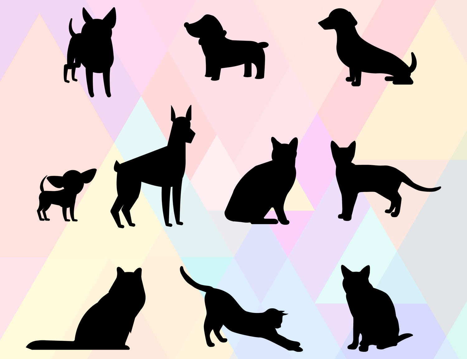 Cat & Dog svg #6, Download drawings
