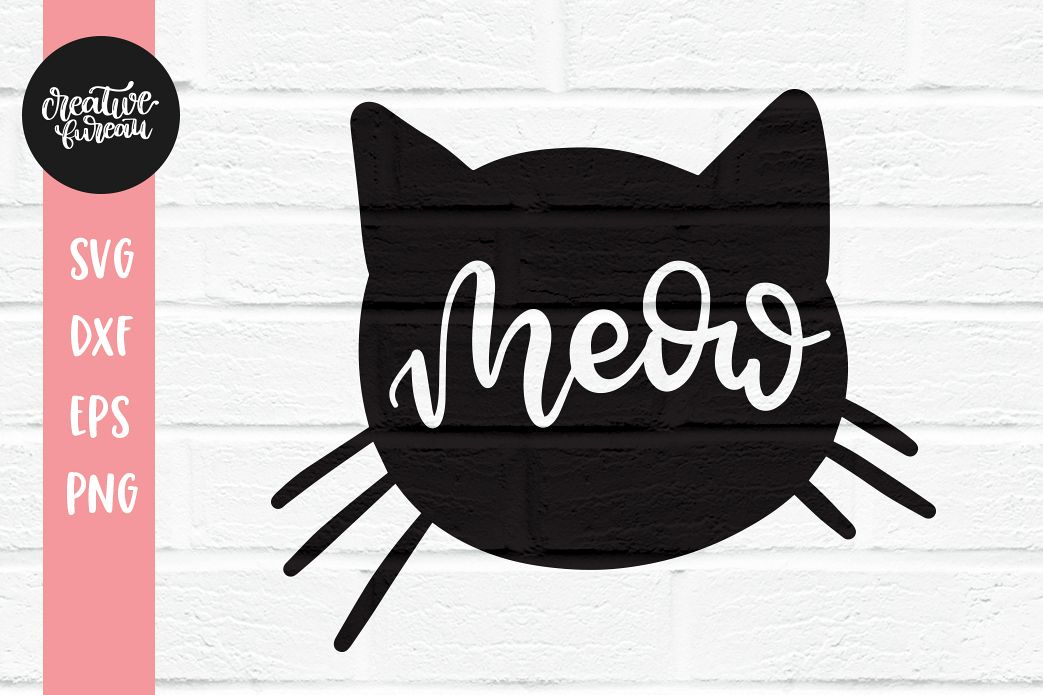 cat head svg #1074, Download drawings