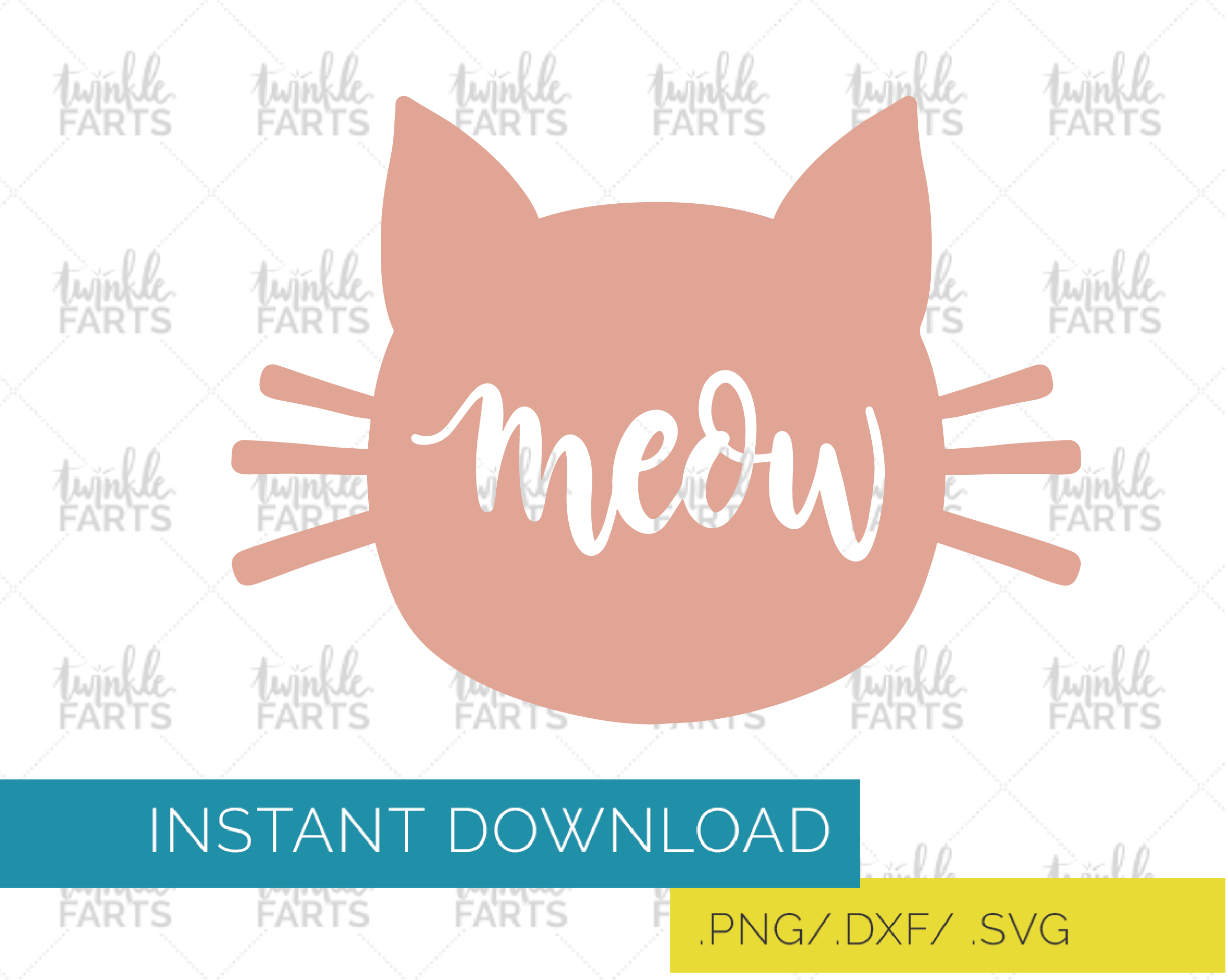 cat head svg #1076, Download drawings