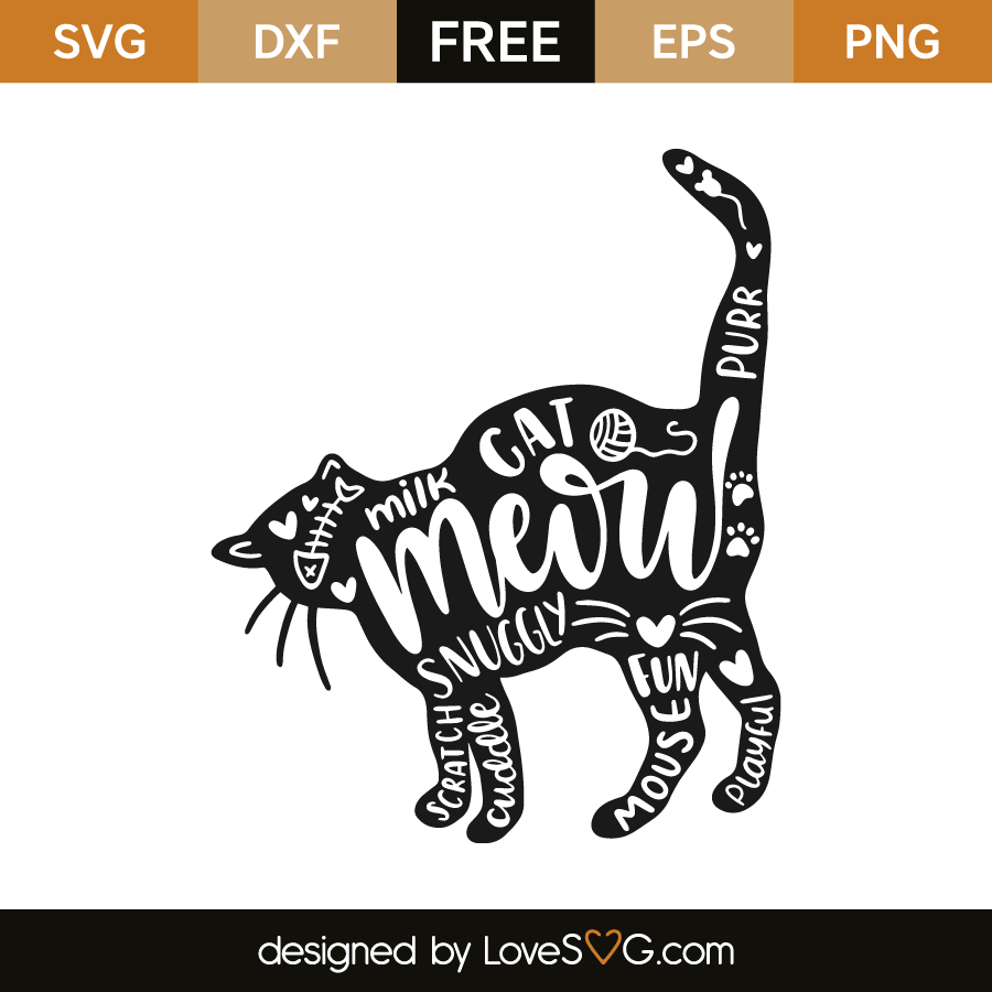 cat svg free #237, Download drawings