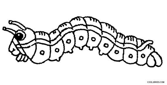 Caterpillar coloring #10, Download drawings