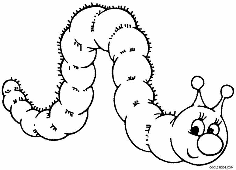 Caterpillar coloring #18, Download drawings