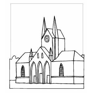 Cathedral coloring #19, Download drawings