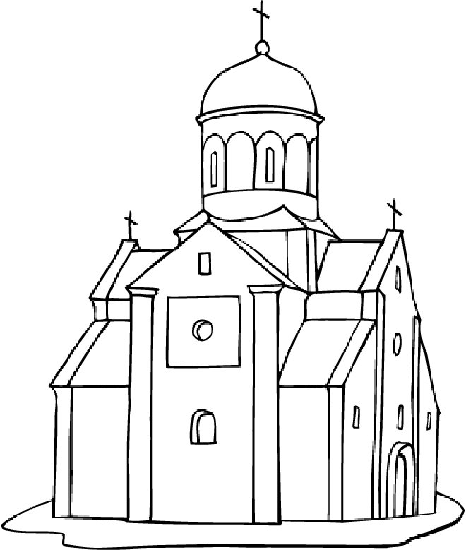 Cathedral coloring #12, Download drawings