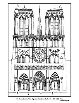 Cathedral coloring #14, Download drawings