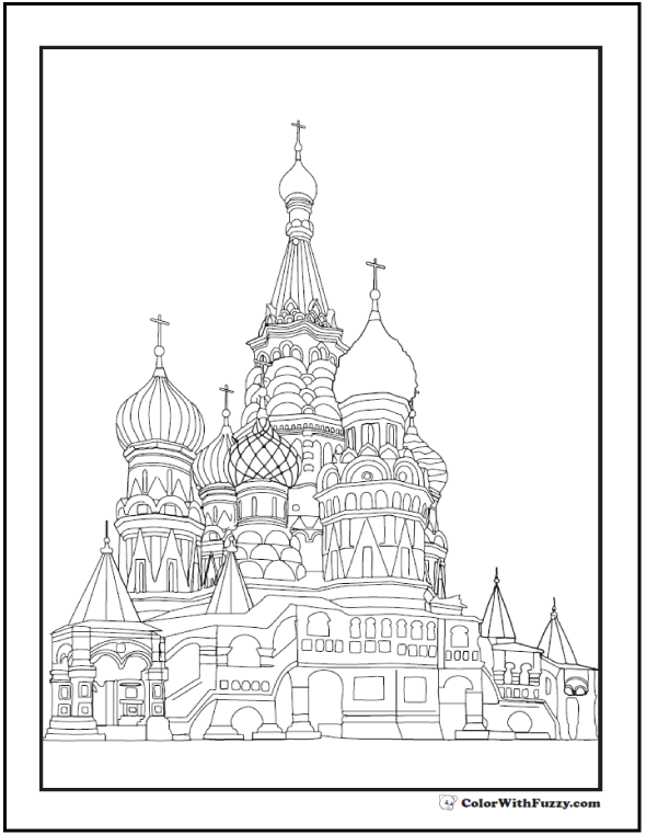 Cathedral coloring #13, Download drawings