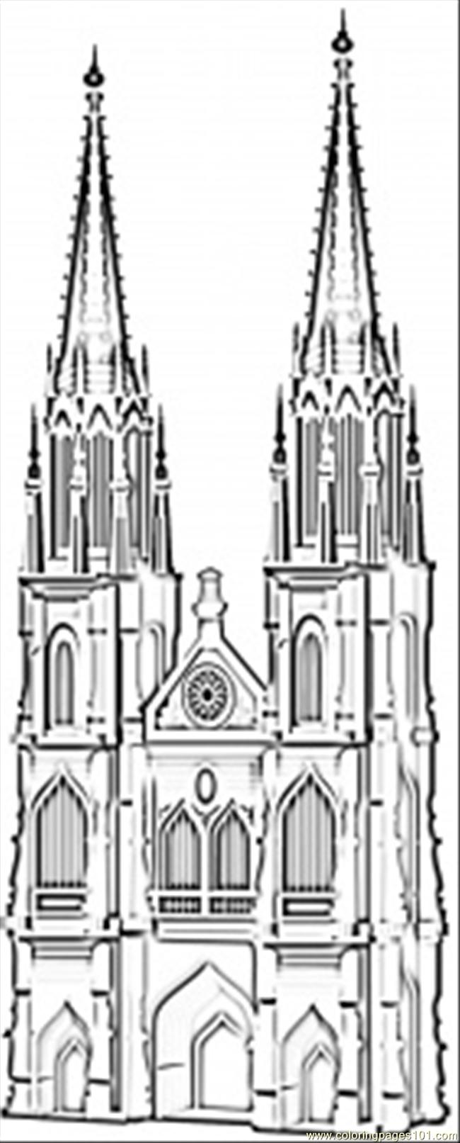 Cathedral coloring #15, Download drawings