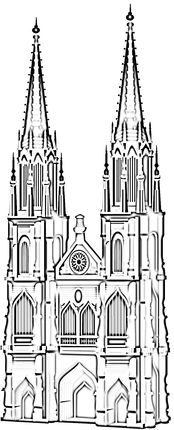 Cathedral coloring #11, Download drawings