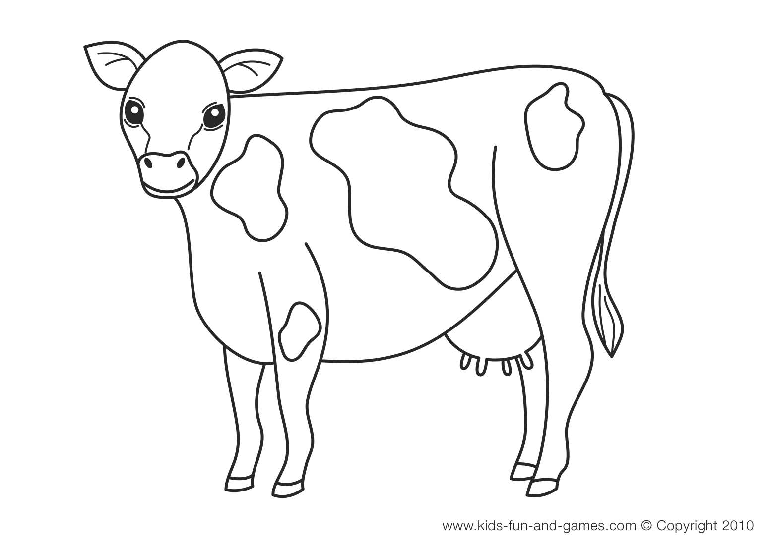 Cattle coloring #15, Download drawings