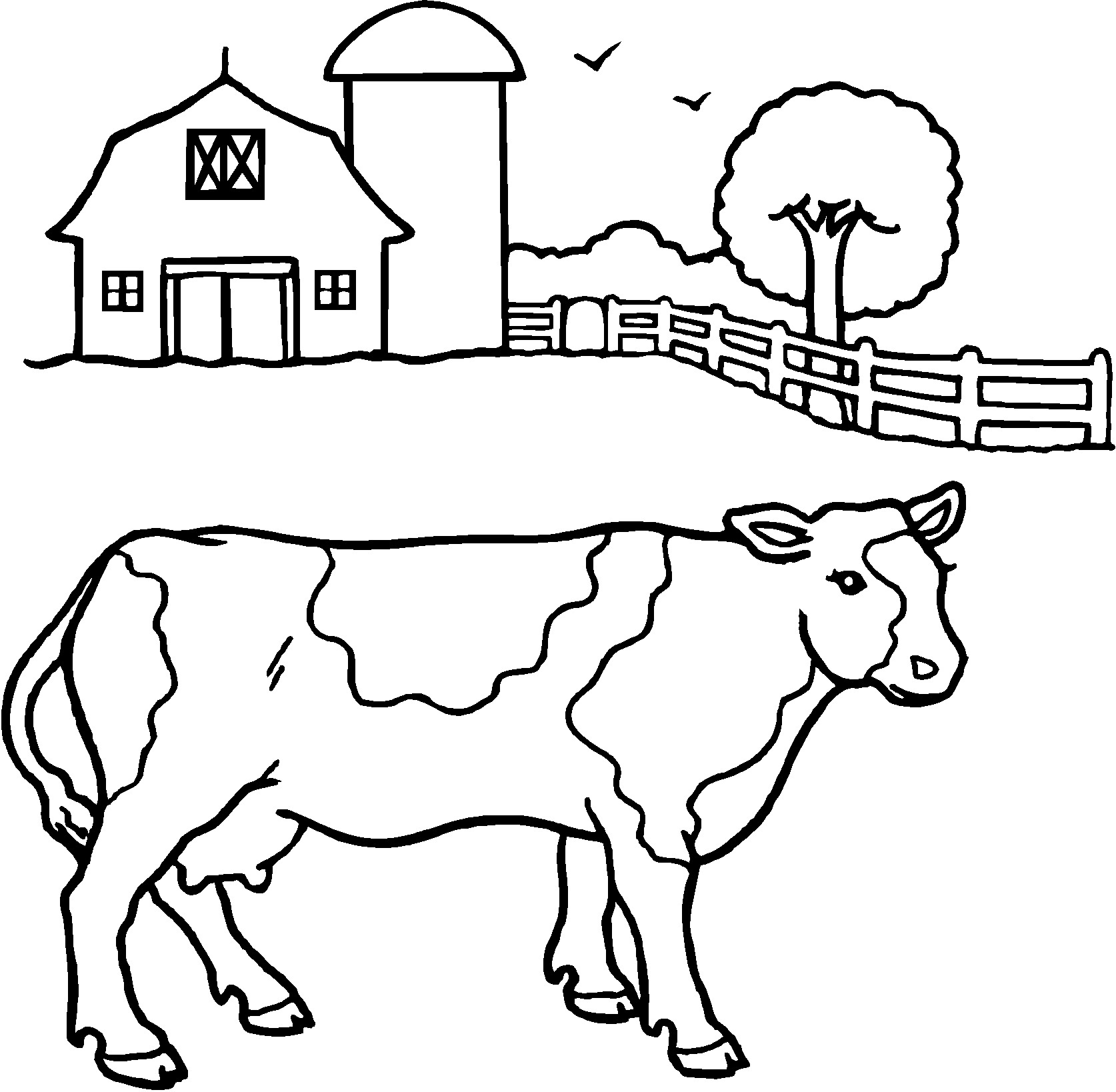 Cattle coloring #4, Download drawings