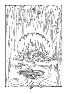 Cave coloring #14, Download drawings