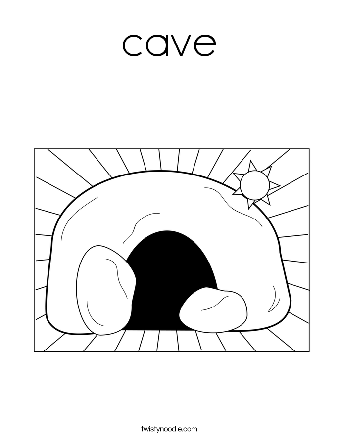 Cave coloring #2, Download drawings