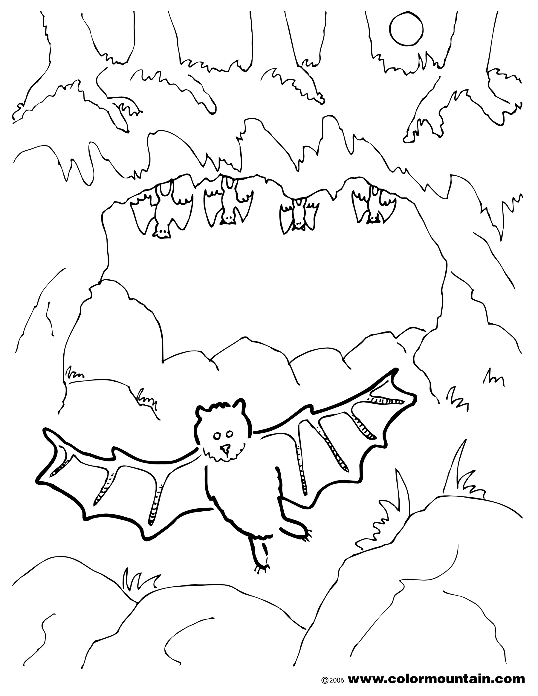 Cave coloring #4, Download drawings