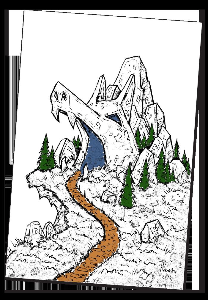 Cavern coloring #10, Download drawings